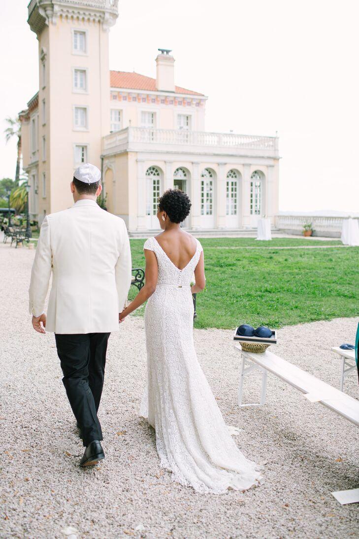 Custom Inmaculada Garcia Lace A-Line Gown