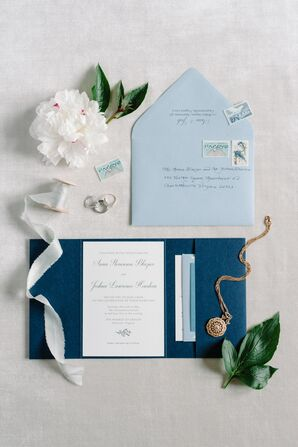 Elegant Blue Invitation Suite