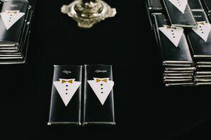 Personalized Tuxedo-Themed Ladurée Favors