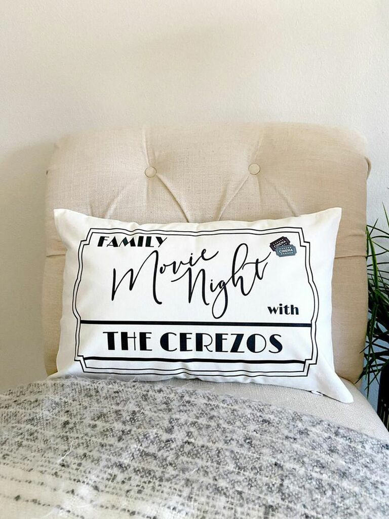 personalized cushion 17th anniversary furniture gifts