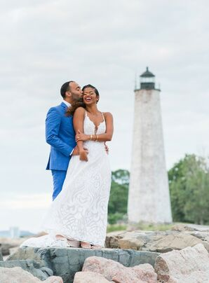 Couple Portraits at Lighthouse Point Park in New Haven, Connecticut