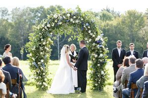 Lush, Garden-Inspired Wedding Arch