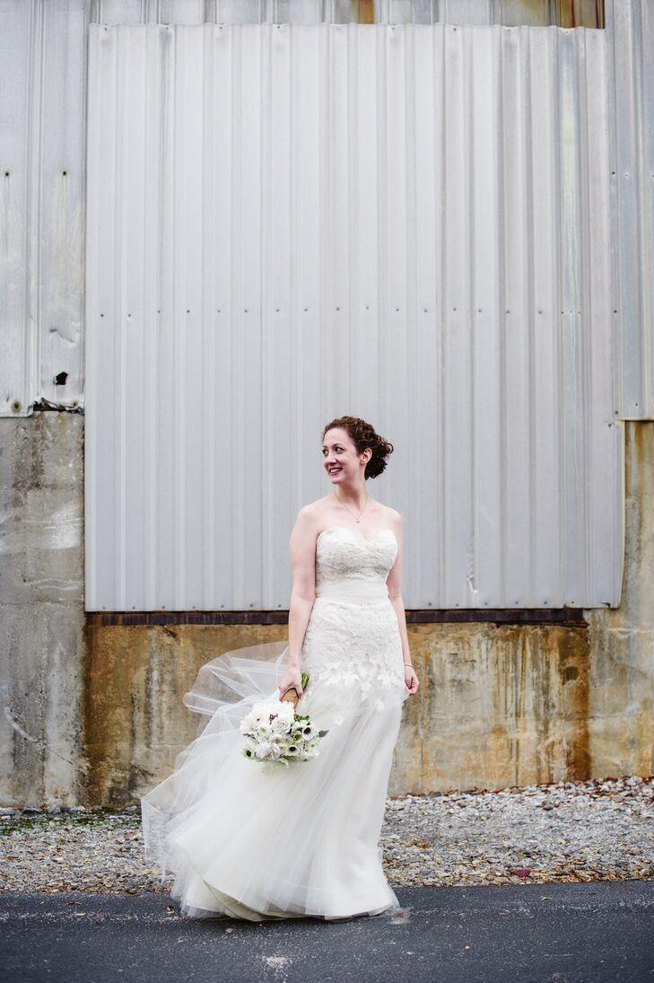 Strapless Lace Liancarlo Wedding Dress
