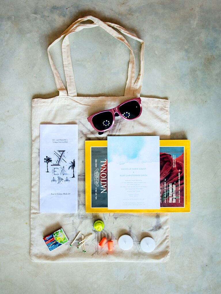 Welome bag tote for destination wedding