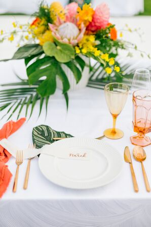 Colorful, Tropical Place Settings