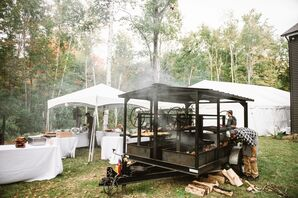 Caterer's Grill and Oven at Backyard Wedding