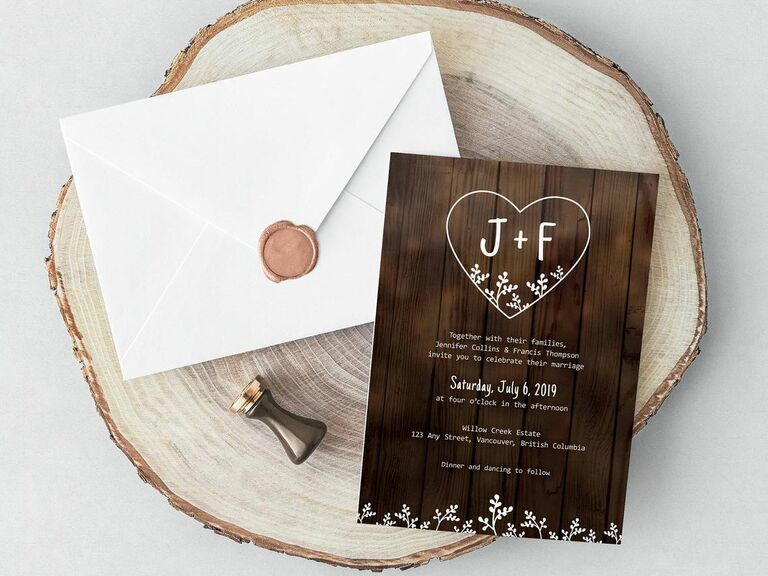 wedding template with initials