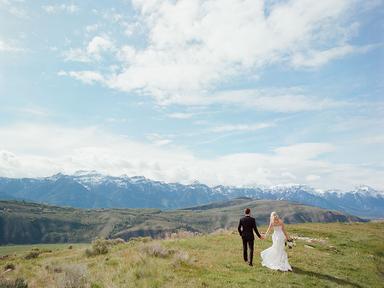 outdoor mountain wedding photo