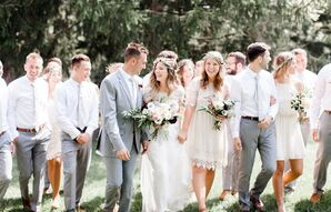 Boho Wedding Party at Rockmill Brewery