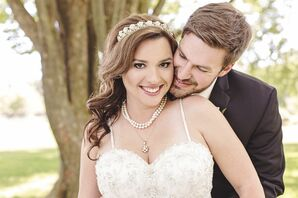 Curled Bridal Hairstyle With Crystal Headpiece