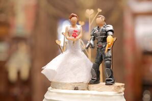 Whimsical DIY Handmade Wedding Cake Topper