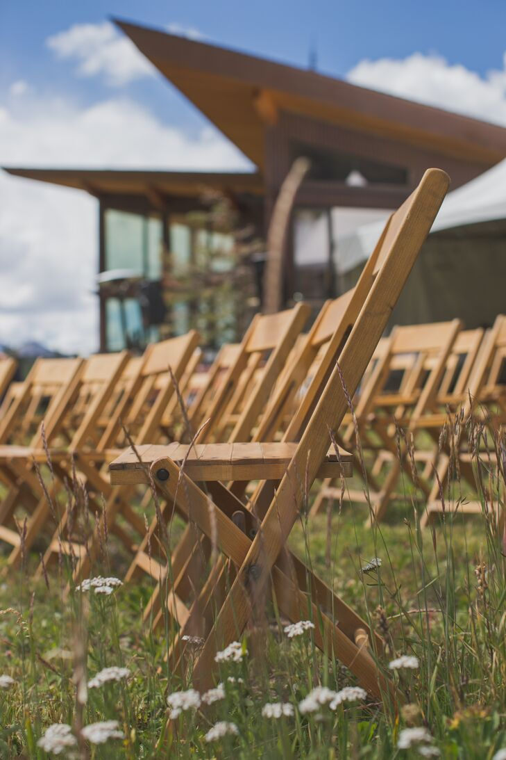 Wooden Folding Chair Ceremony Seating