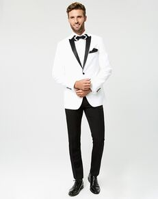 LE CHÂTEAU Wedding Boutique Tuxedos MENSWEAR_359945_003 White Tuxedo