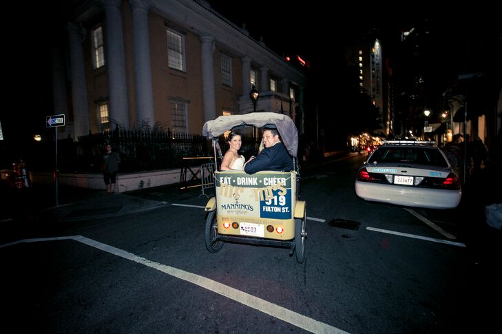 Rickshaw 'Just Married' Ceremony Exit