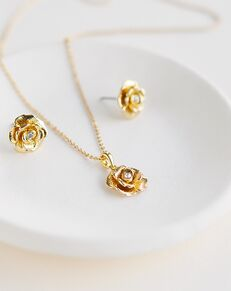 Dareth Colburn Rosalie Floral Pendant Set (JS-1706) Wedding Necklace photo
