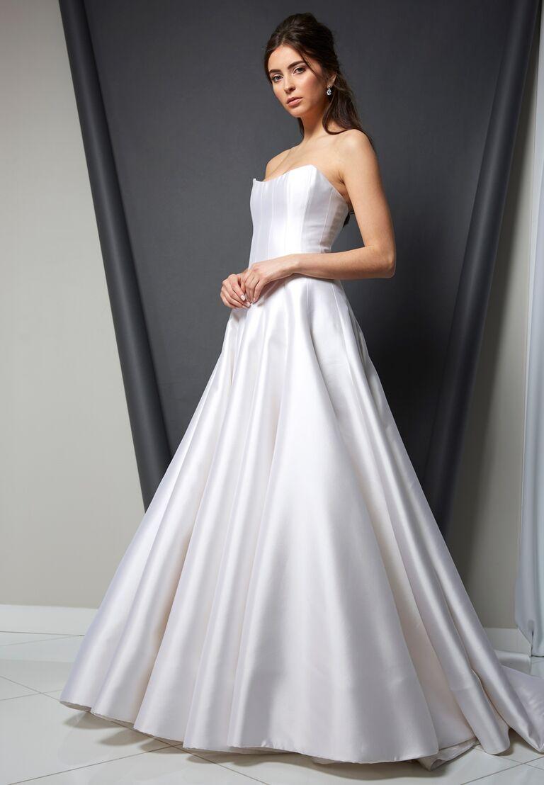 Randi Rahm Spring 2020 Bridal Collection strapless A-line wedding dress