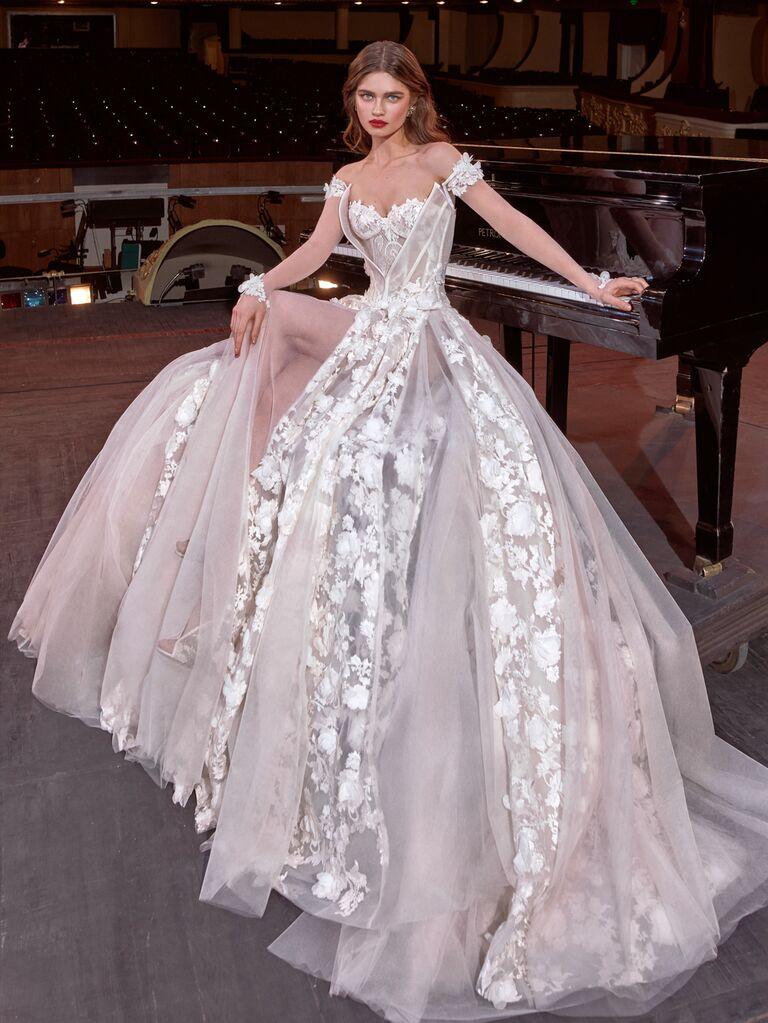 Galia Lahav Spring 2020 Bridal Collection lace paneled wedding dress