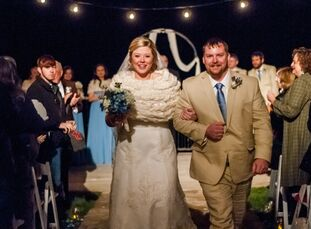 """Whitney Morrison (29, a designer) and Chuck Holderfield (27, a DJ and entertainer) met in college.""""We both attended the University of Montevallo,"""" Whi"""