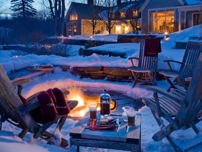 winter honeymoon destinations Twin Farms Barnard, Vermont
