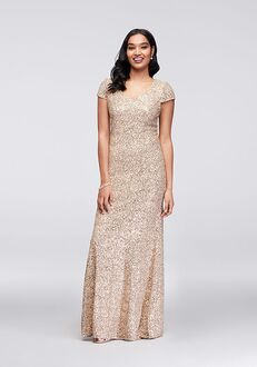 David's Bridal Mother of the Bride Alex Evenings Style 11220631 Champagne Mother Of The Bride Dress