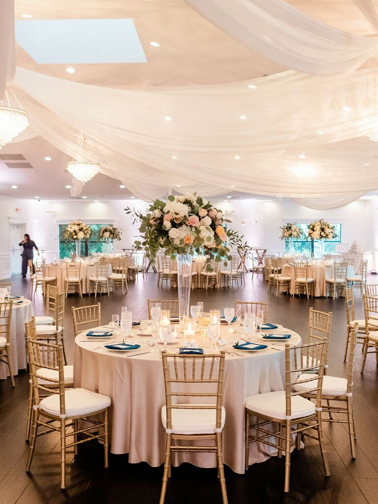 spring wedding centerpieces tall with flowers