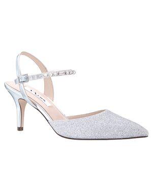 Nina Bridal Tonya Silver Shoe