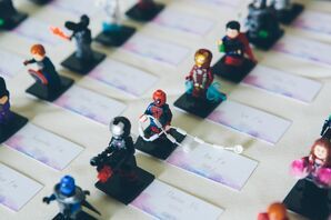 Lego Superhero Escort Cards