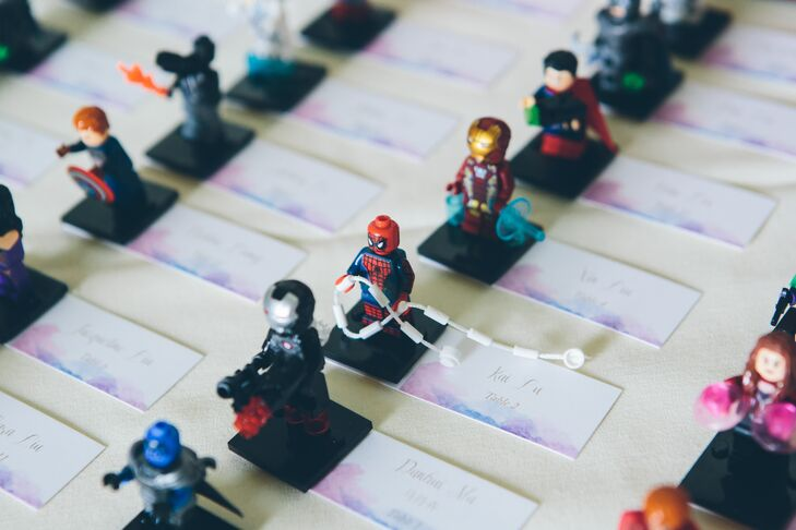 Lego Superhero Escort Cards