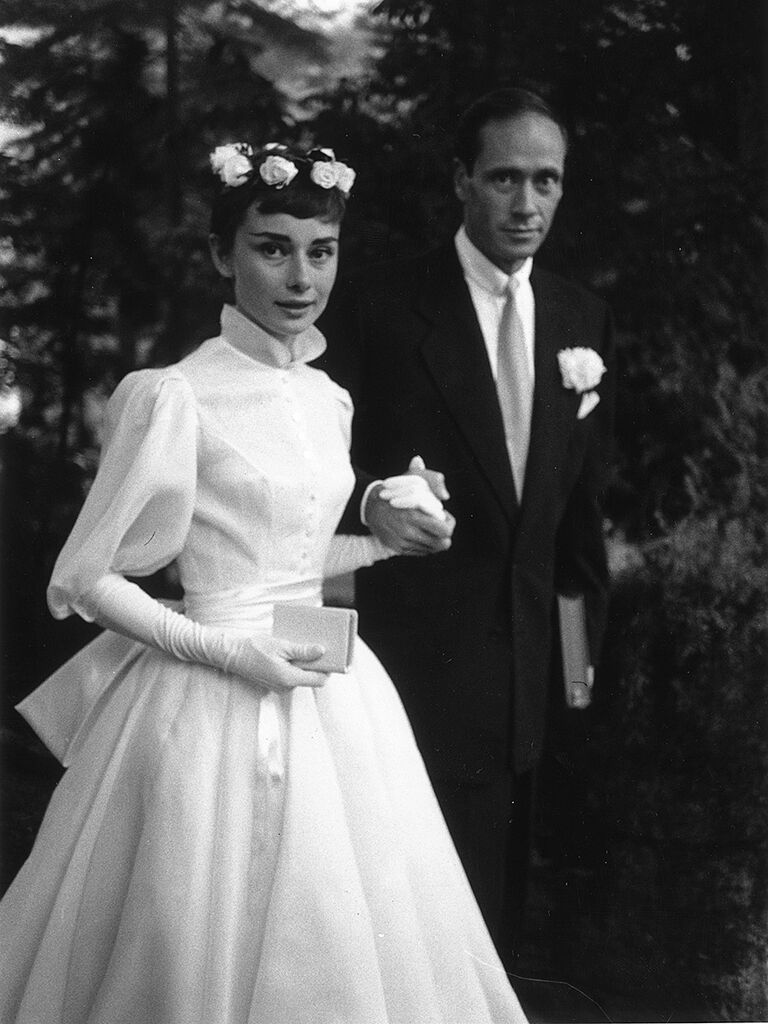 Audrey Hepburn's iconic wedding dress