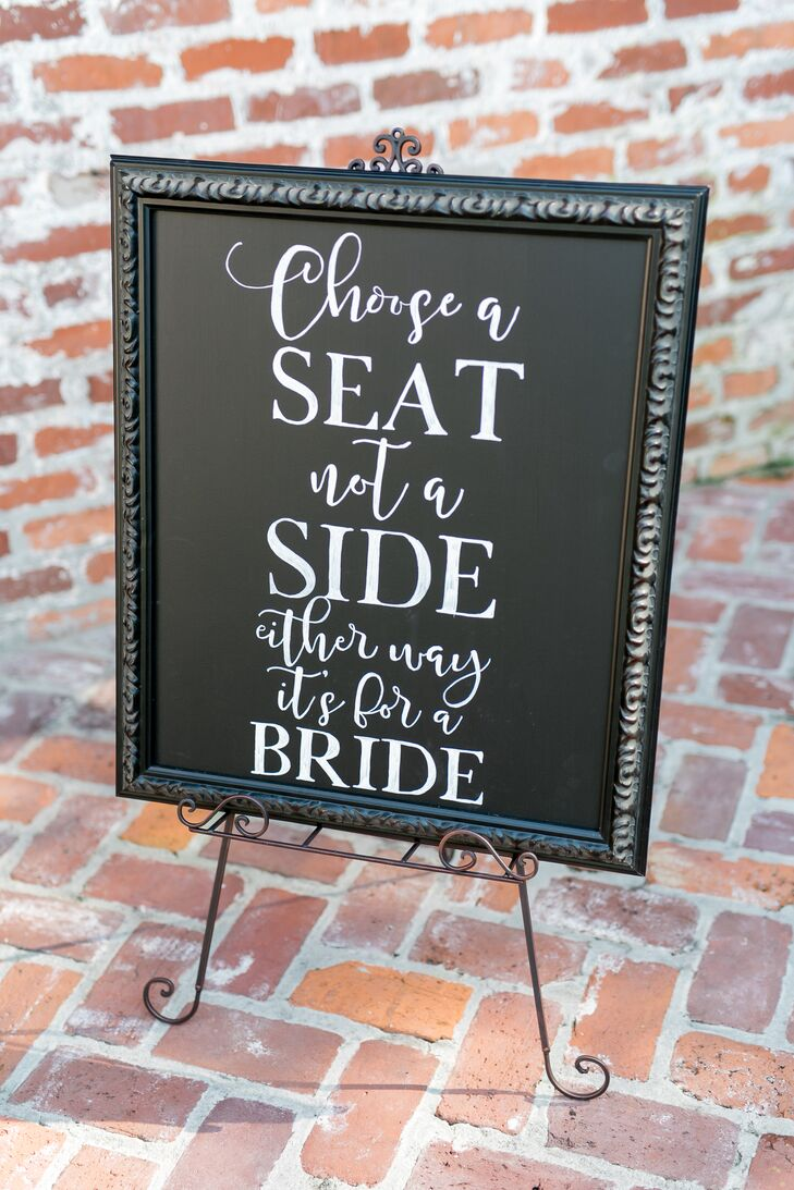 Personalized Sign for Same-Sex Ceremony