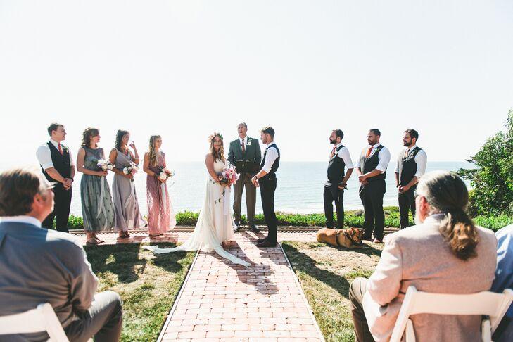 Oceanside Backyard Wedding Ceremony