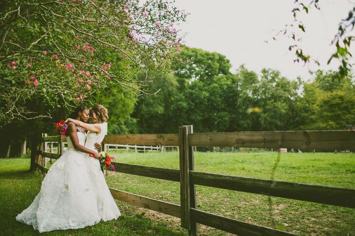 While planning their fall wedding in Pittsboro, Erin Crawford (29 and a fitness director) and Jessica Fines (33 and a social worker) immediately looke
