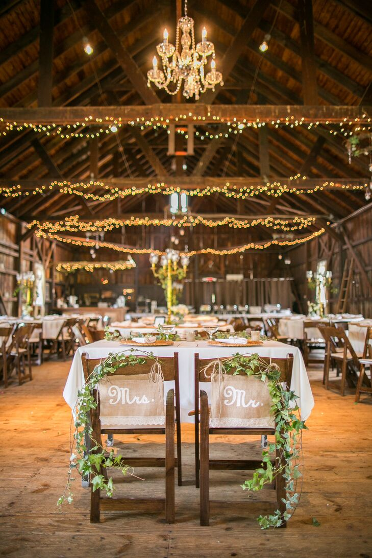 'His' and 'Her' Burlap Chair Signs
