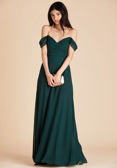 Birdy Grey Spence Convertible Dress in Emerald V-Neck Bridesmaid Dress