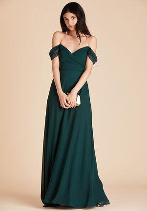Birdy Grey Spence Convertible Dress in Emerald V-Neck Bridesmaid Dress
