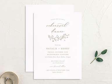 Calligraphed custom rehearsal dinner invitations