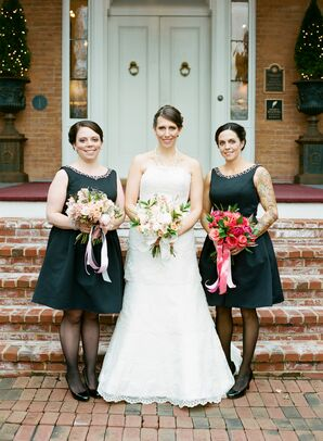 Black A-Line Bridesmaid Dresses