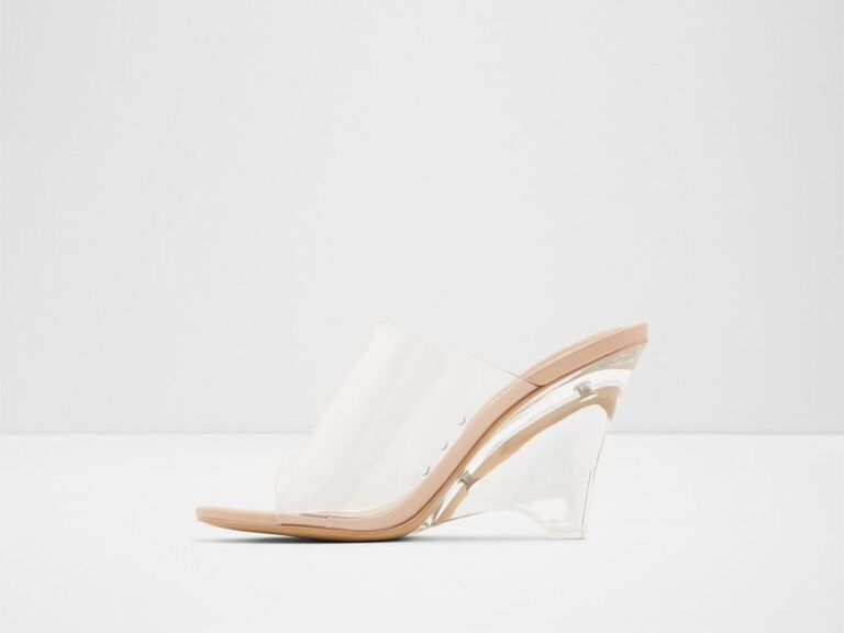 ALDO Shoes clear wedge sandal mule
