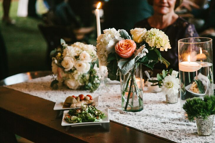 """""""Since our wedding was in such a charming historic town, I choose to incorporate a lot of southern themes into our wedding. We used a lot of navy, gold and pinks through out the wedding décor. Our flowers were primarily pink peonies, roses and eucalyptus leaves for a more whimsical feel."""""""