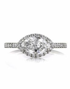 Mark Broumand Unique Marquise Cut Engagement Ring