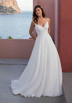 WHITE ONE BONESET A-Line Wedding Dress