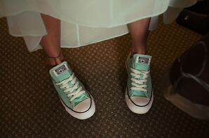 Mint Green Converse Wedding Sneakers