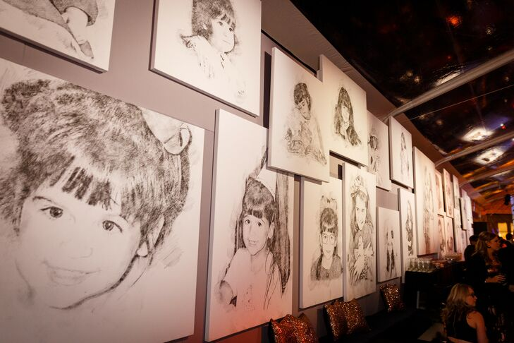 Eclectic Gallery Wall with Ink Sketches