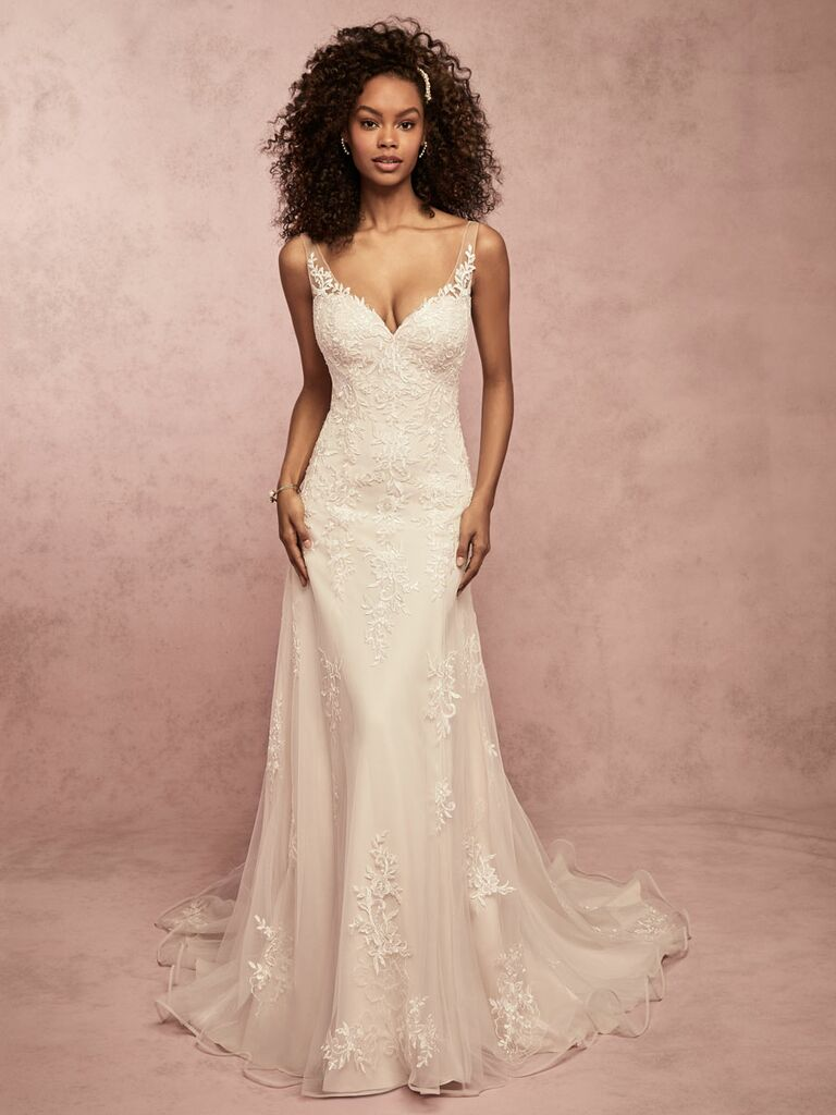 Rebecca Ingram Spring 2019 lace sheath wedding dress