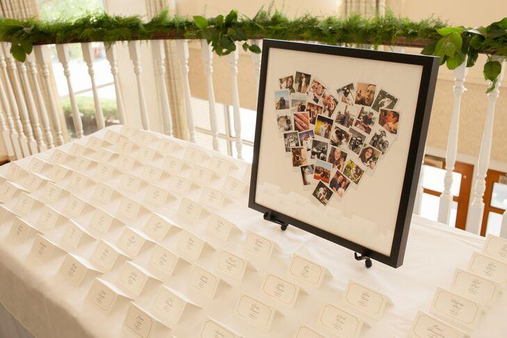 Photo Collage Heart Escort Card Display