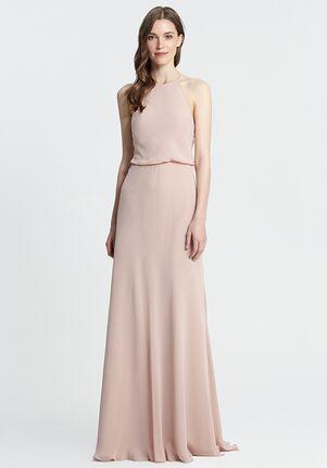 Monique Lhuillier Bridesmaids 450371 Halter Bridesmaid Dress