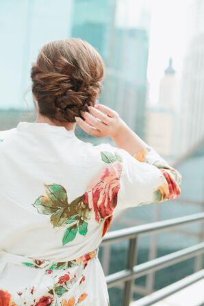 Pinned Curls Bridal Updo