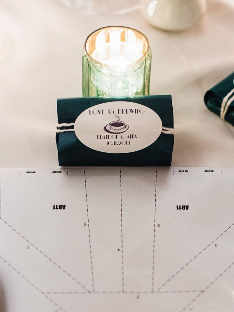 Punny tea wedding favor label