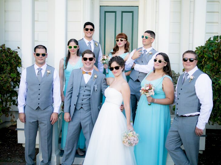 Blue and Gray Wedding Party, Sunglasses