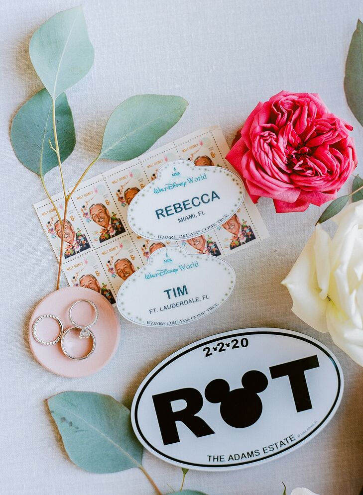 Disney-Inspired Stationery for Wedding at The Adams Estate in Lake Alfred, Florida